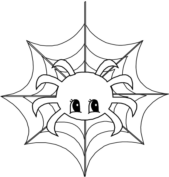 718x752 Printable Cute Animal Spider Coloring Page