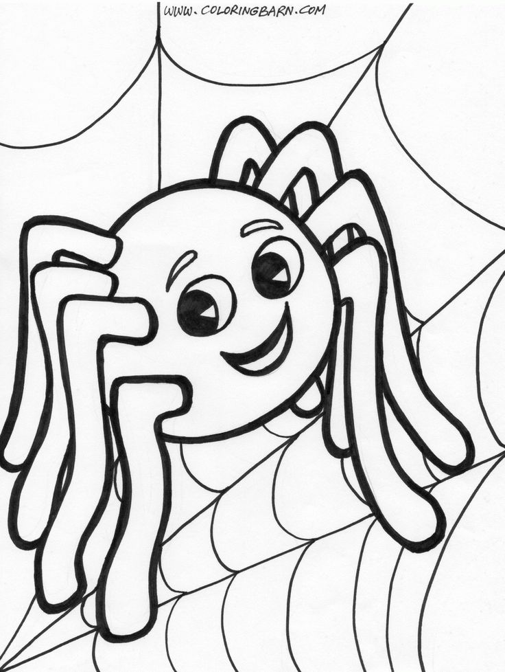 736x978 Spider Clipart Coloring Page