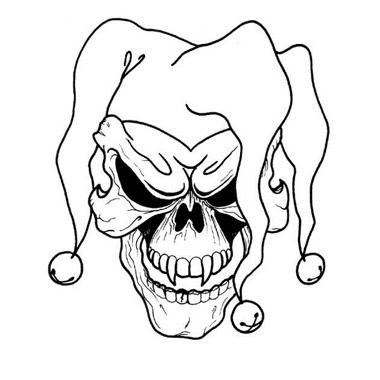 380x380 Collection Of Wicked Skull Spider Tattoo Stencil