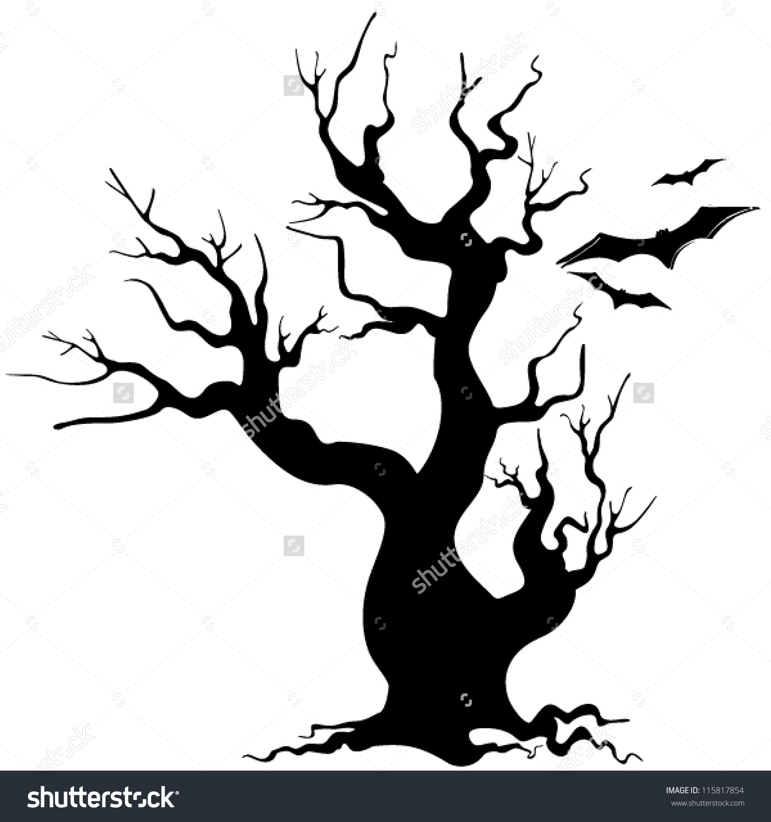 1500x1600 Halloween Tree Drawing Festival Collections