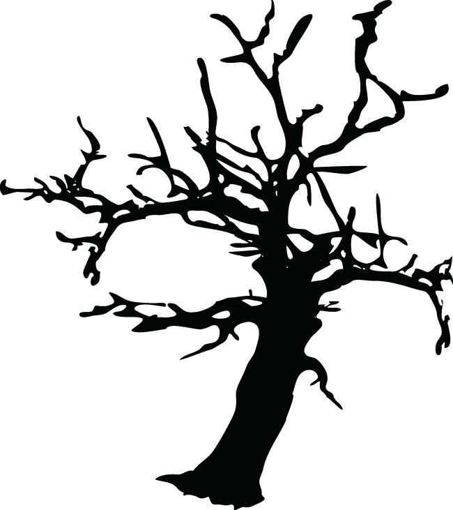 650x731 Halloween Trees Black Tree Free And Vector Scary Halloween Tree