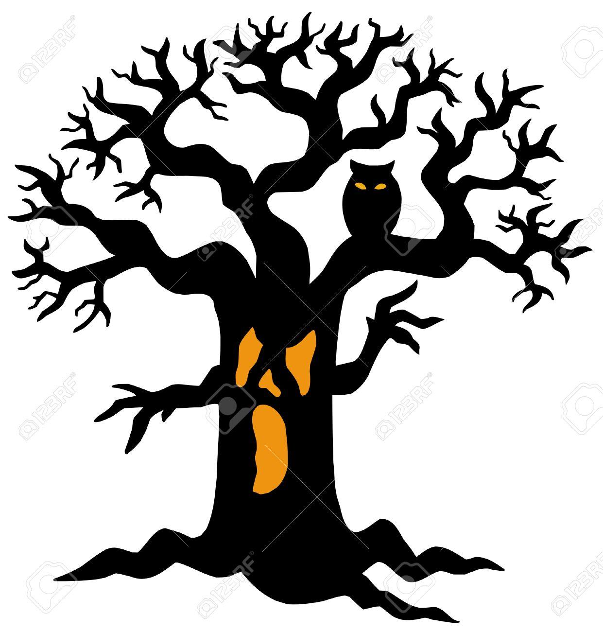 1241x1300 Horror Clipart Spooky Tree