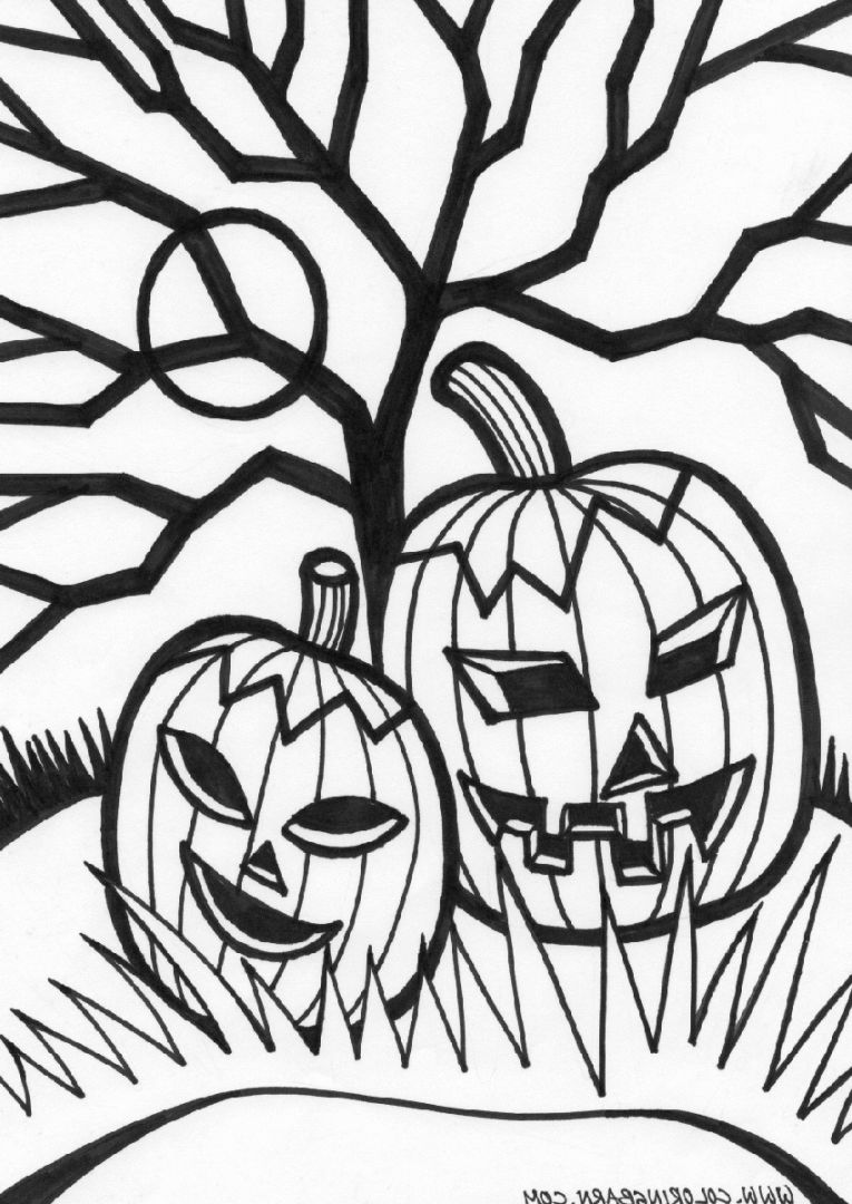 765x1080 Scary Halloween Coloring Pages