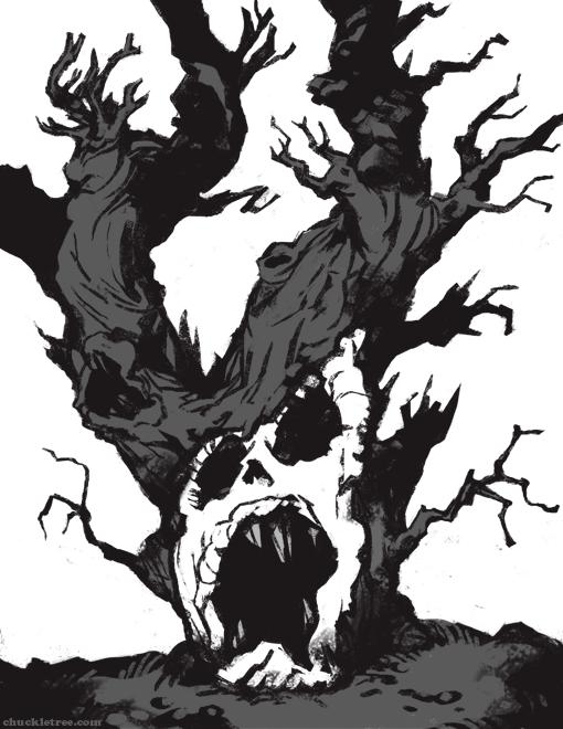 510x660 Scary Tree Sketch By Wonderdookie