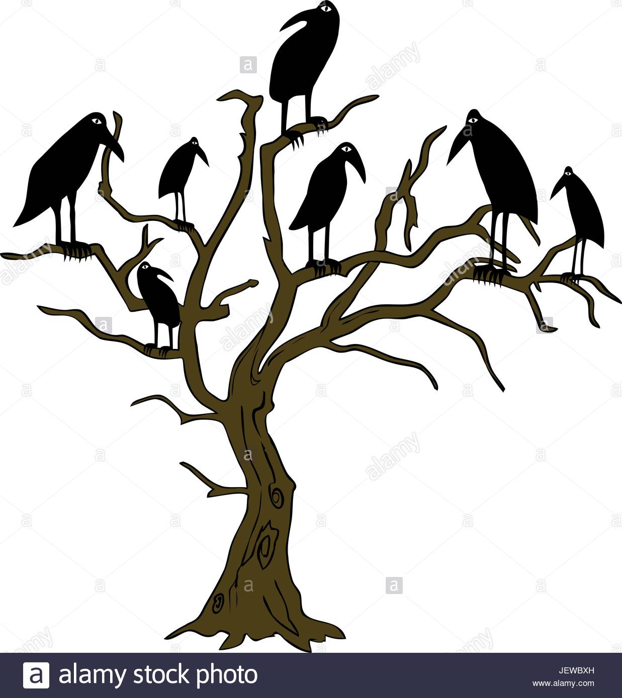 1237x1390 Tree, Scary, Halloween, Spooky, Raven, Vector, Ghostly, Symbolic