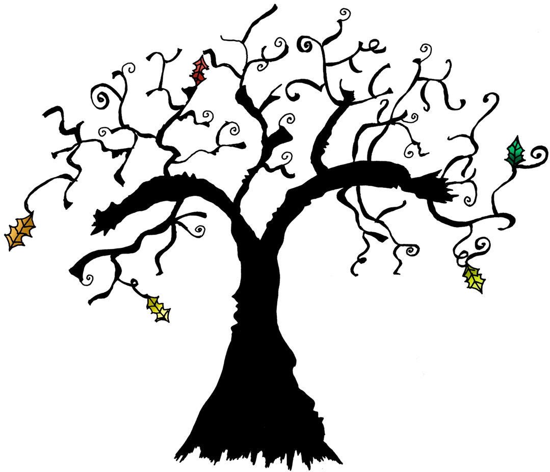 1079x927 Spooky Tree Halloween Clipart Halloween Amp Holidays Wizard