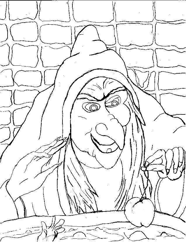 637x825 Scary Halloween Coloring Pages Scary Halloween Witch Coloring