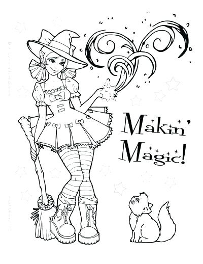400x518 Stunning Scary Halloween Coloring Pages New Witch 1 Pumpkin
