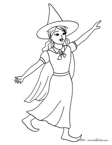 363x470 Witch Coloring Pages Scary Witch Face Lovely Young Witch Coloring