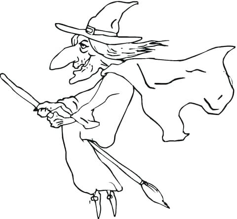 480x444 Witch Coloring Pictures Click To See Printable Version Of Ugly Old