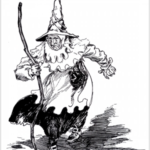 300x300 Witch Coloring Pages