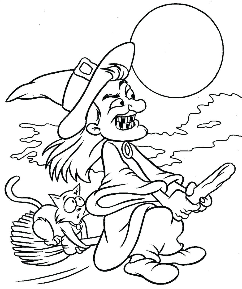 1024x1225 Coloring Scary Coloring Pages Top Witch Photo. Scary Coloring Pages