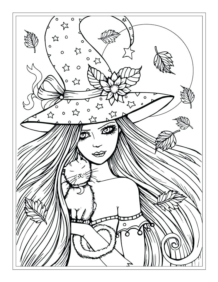 720x932 Halloween Coloring Pages Witch Download Halloween Coloring Pages