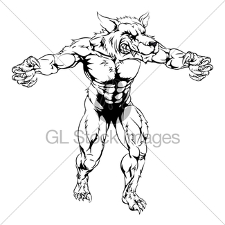 325x325 Scary Werewolf Monster Character Gl Stock Images