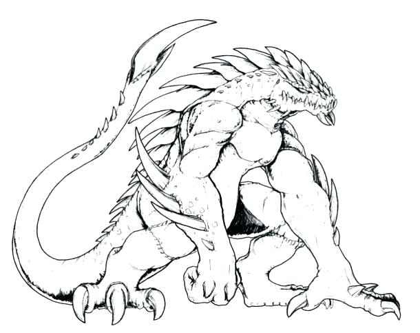 610x483 Scary Dragon Coloring Pages