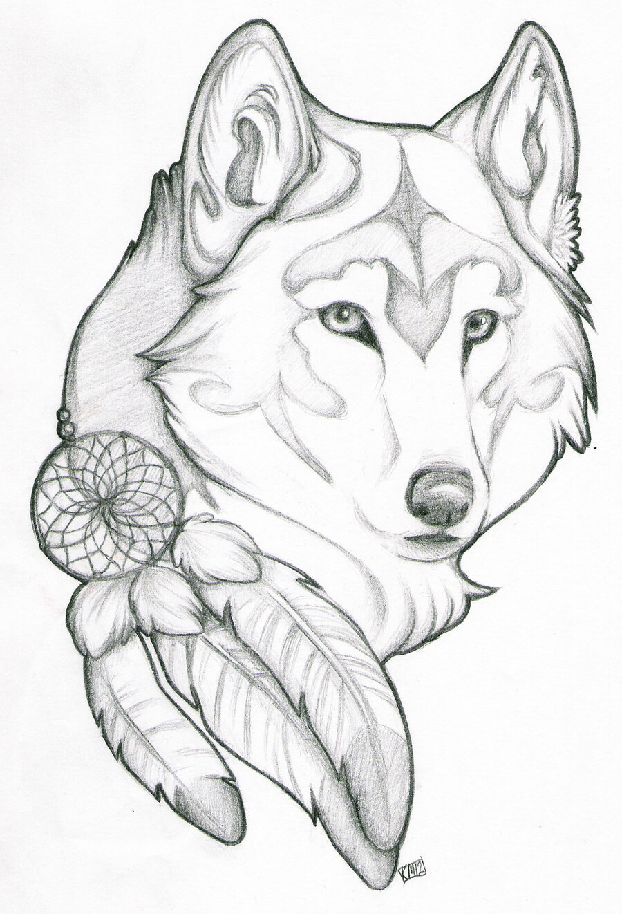 900x1322 Drawn Unicorn Wolf
