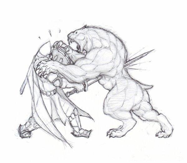 600x523 Fight Scene By Krigg