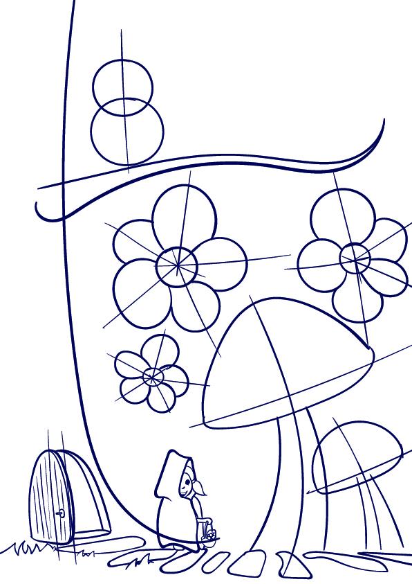 596x843 Learn How To Draw A Mushroom