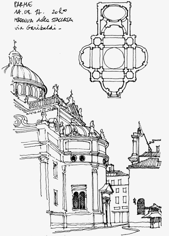 650x909 Scene Sketch Line Drawing, Scene Painting, Hand Painted Scenery