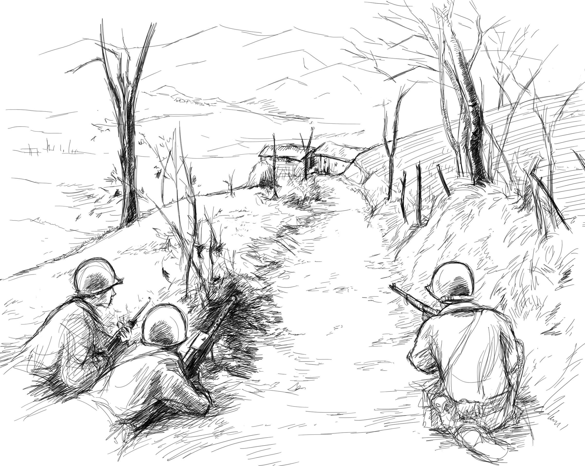 2406x1919 Scene Sketch Wwii Gis