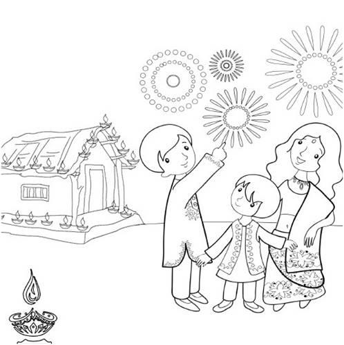 498x500 Diwali Paintings, Drawing Pictures, Scene, Diwali Sketch For Kids