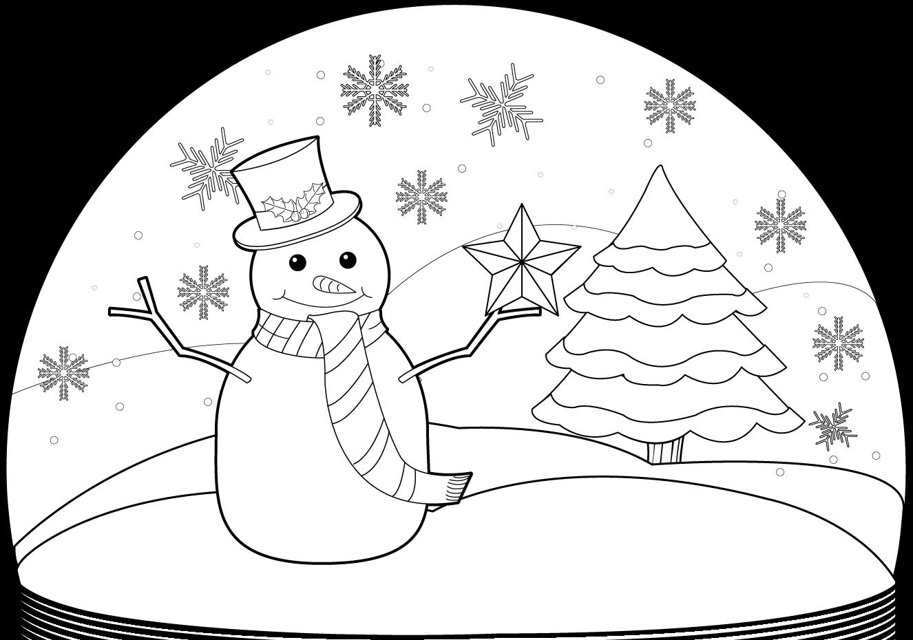 1326x930 Clipartfort Holidays Christmas Snow Globe