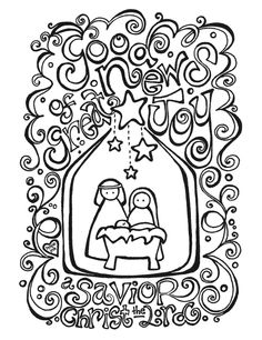236x306 Free Nativity Coloring Page + Coloring Activity Placemat Bujo