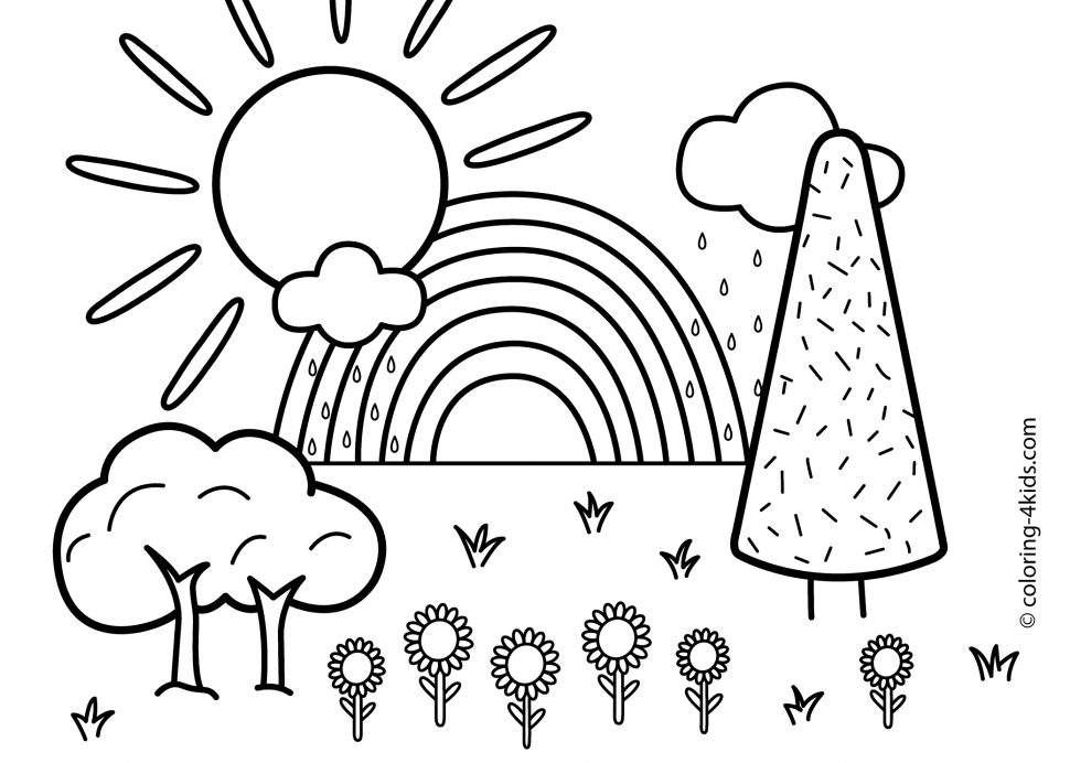 970x692 Free Printable Nature Coloring Pages For Kids