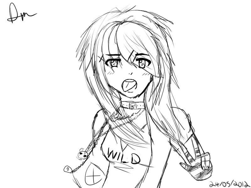 800x600 Random Scene Girl Sketch By Kaniii