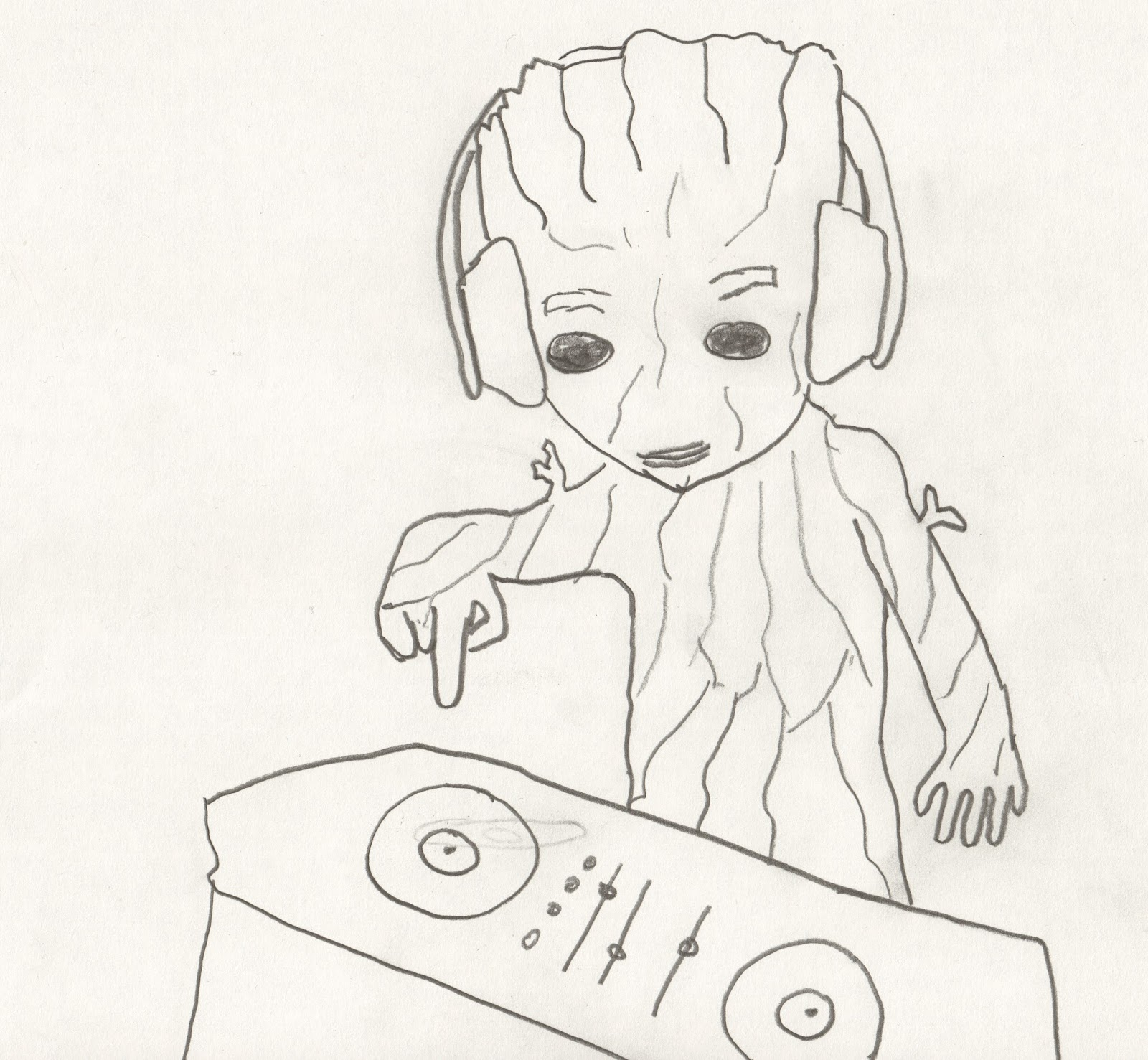 1600x1477 Baby Groot Spinning Mad Beats Yo. Isn'T That How The Kids Put It