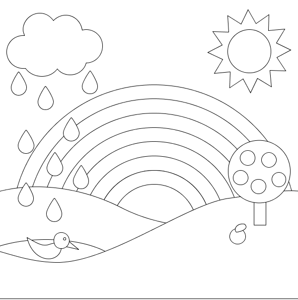 600x603 A Rainbow Of Beautiful Scenery Coloring Pages Coloring Pages