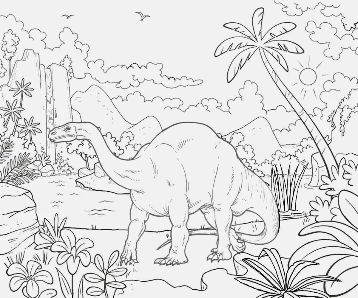1200x1000 Landscape For Kids Drawing Prehistoric Landscape Drawings, This