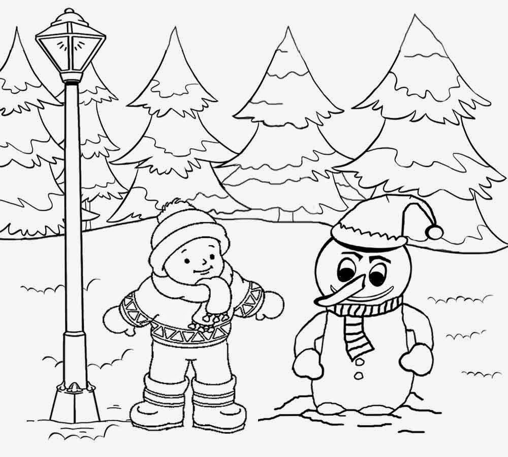 1000x900 Landscape Coloring Pages Scenery Clipart Pencil And In Color