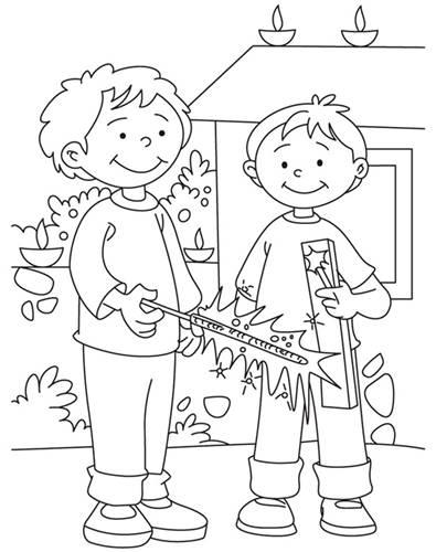 395x500 Diwali Paintings, Drawing Pictures, Scene, Diwali Sketch For Kids