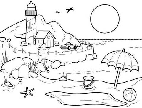 480x366 Scenery Coloring Pages Printable
