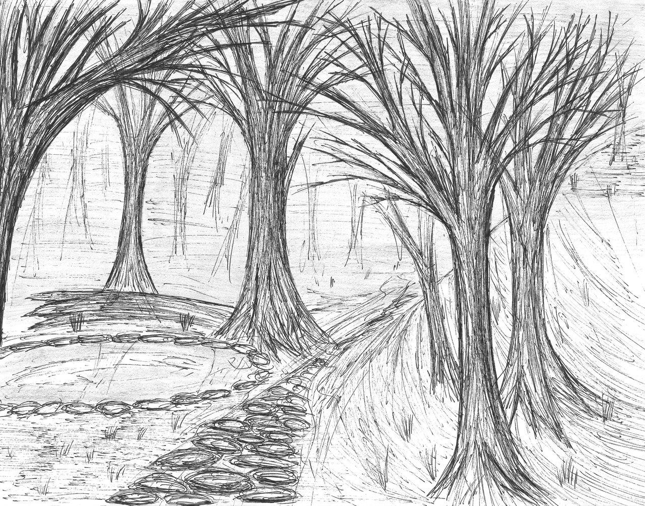 1280x1004 Treescenery Pen By Trigun402