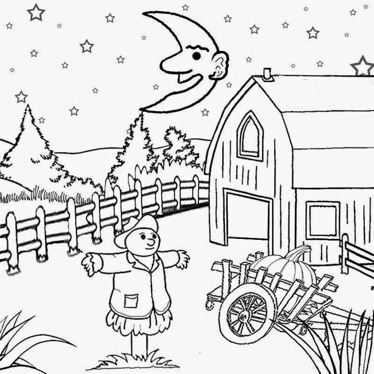 Scenery Drawing For Kids