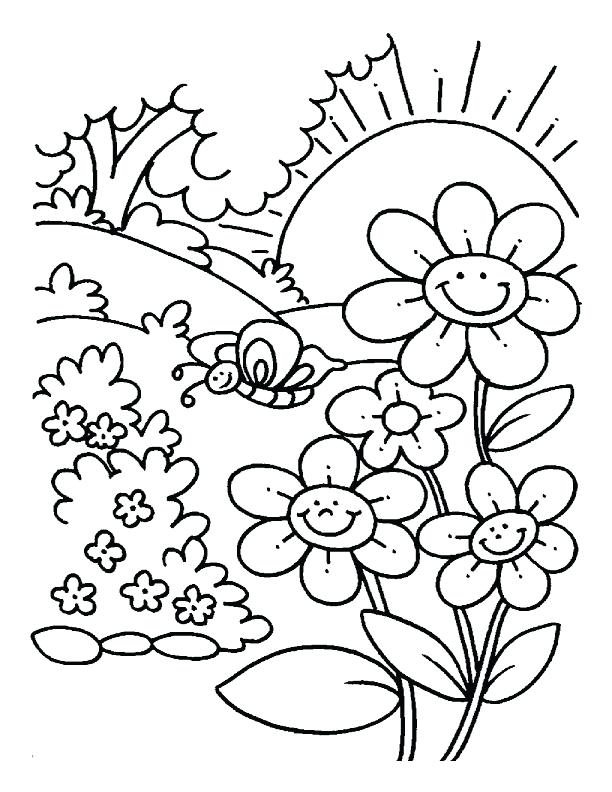 612x792 Great Spring Coloring Pages Best Of Scenery With Nature