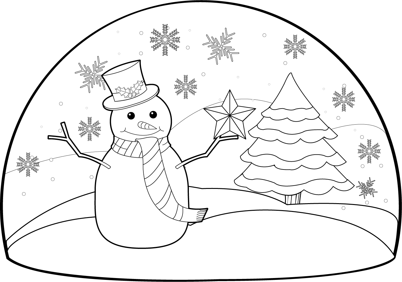 1326x930 Scenery Clipart Black And White For Kids