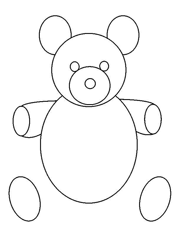 604x800 How to draw a Teddy bear in some simple steps