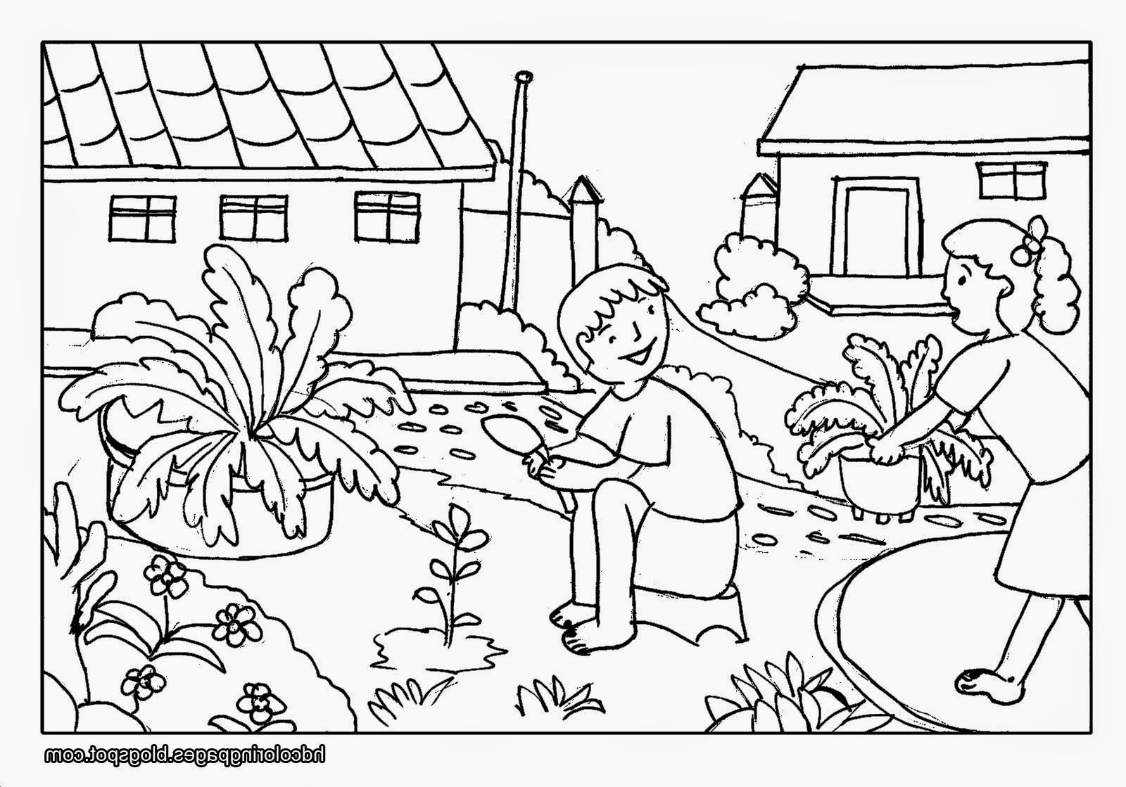 1600x1119 Nature Black And White Drawing Kids Nature Scenery Coloring Pages