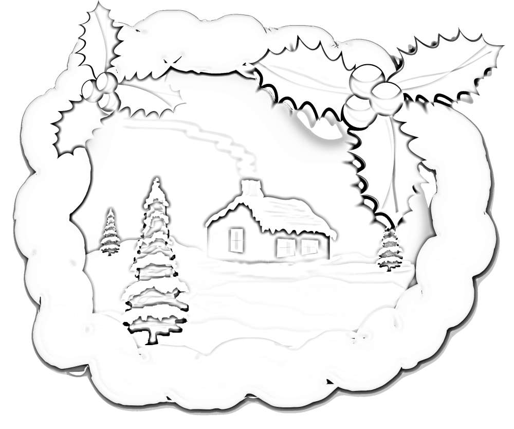 1000x834 Scenery Coloring Pages For Christmas