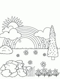 236x307 farm scenery drawings Gardening Coloring Pages for Kids
