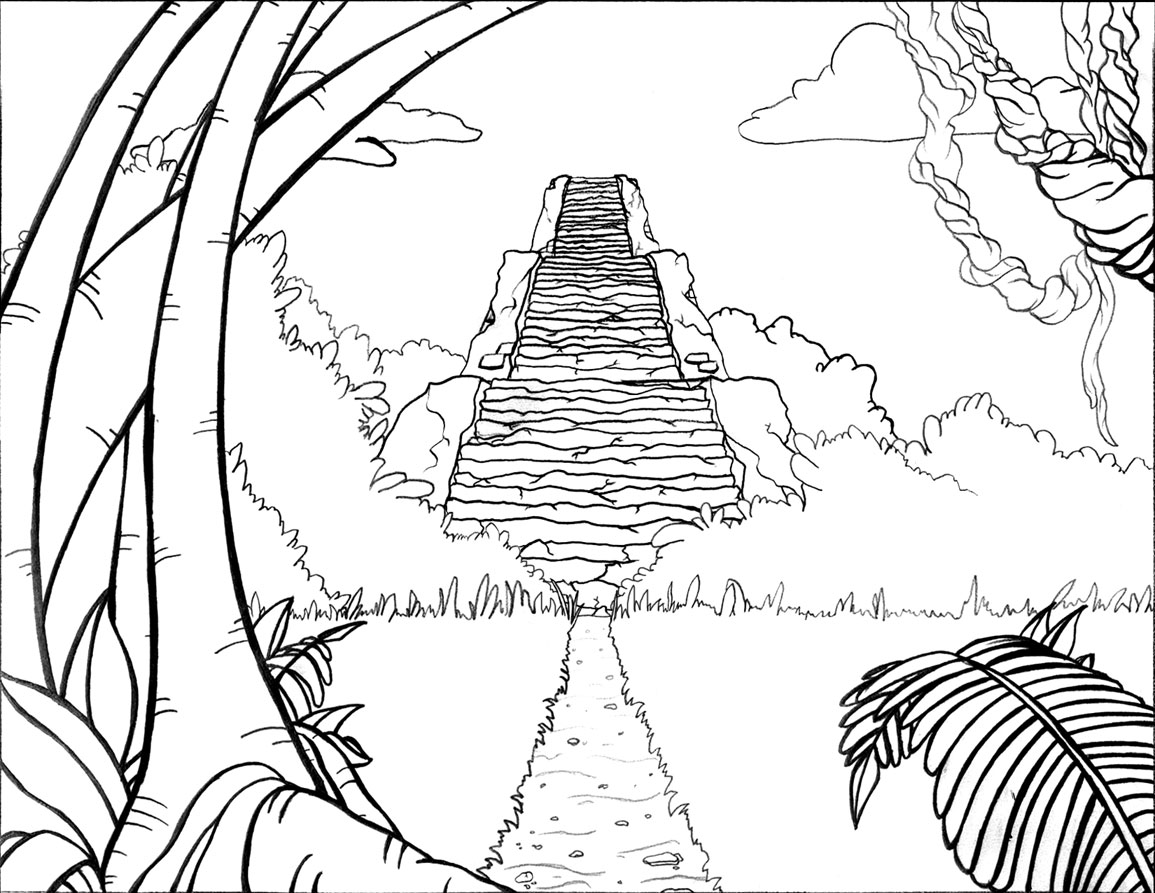 1155x893 Drawn Jungle Jungle Scenery