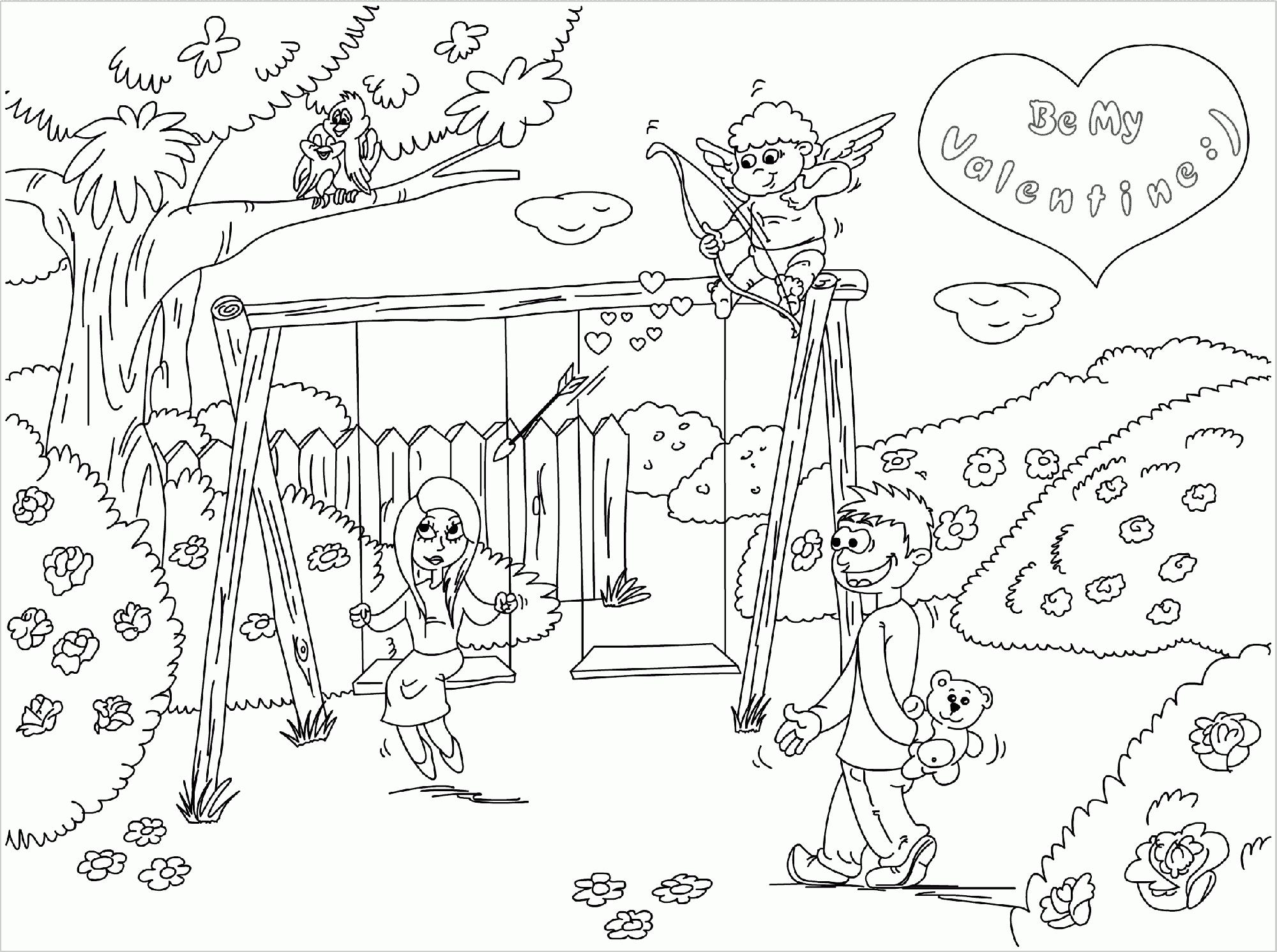 2000x1492 Drawn Scenery Park Playground