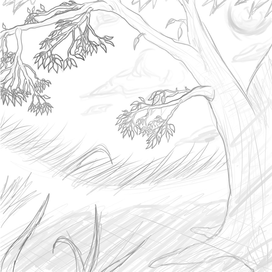 894x894 Pictures Simple Sketch Of Scenery,
