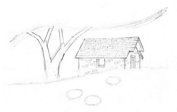Scenery Pencil Drawing