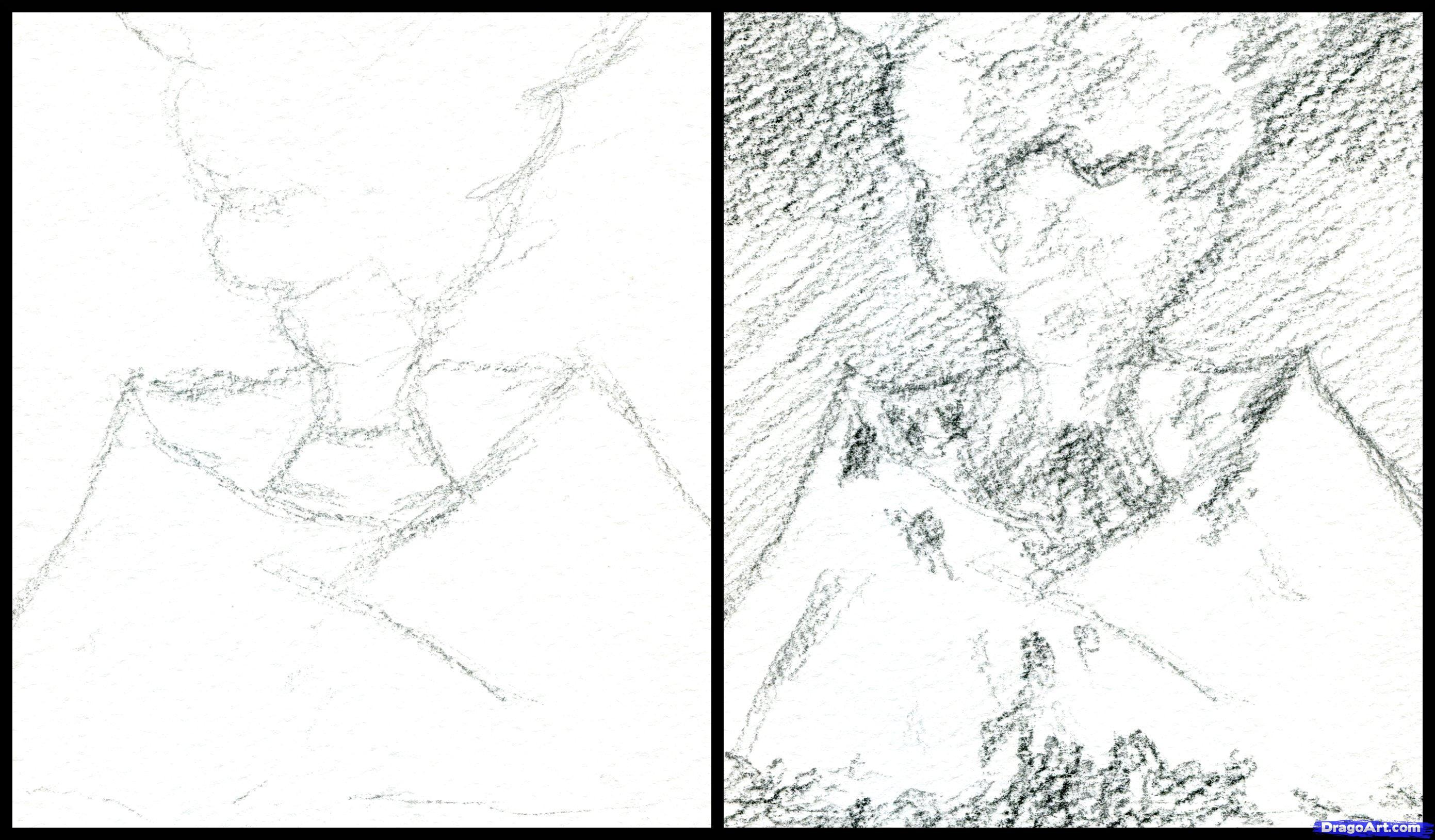 2782x1629 Drawn Volcano Pencil Drawing