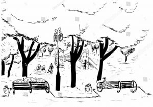 300x210 The Images Collection Of Scene Park Playground Drawing Clipart