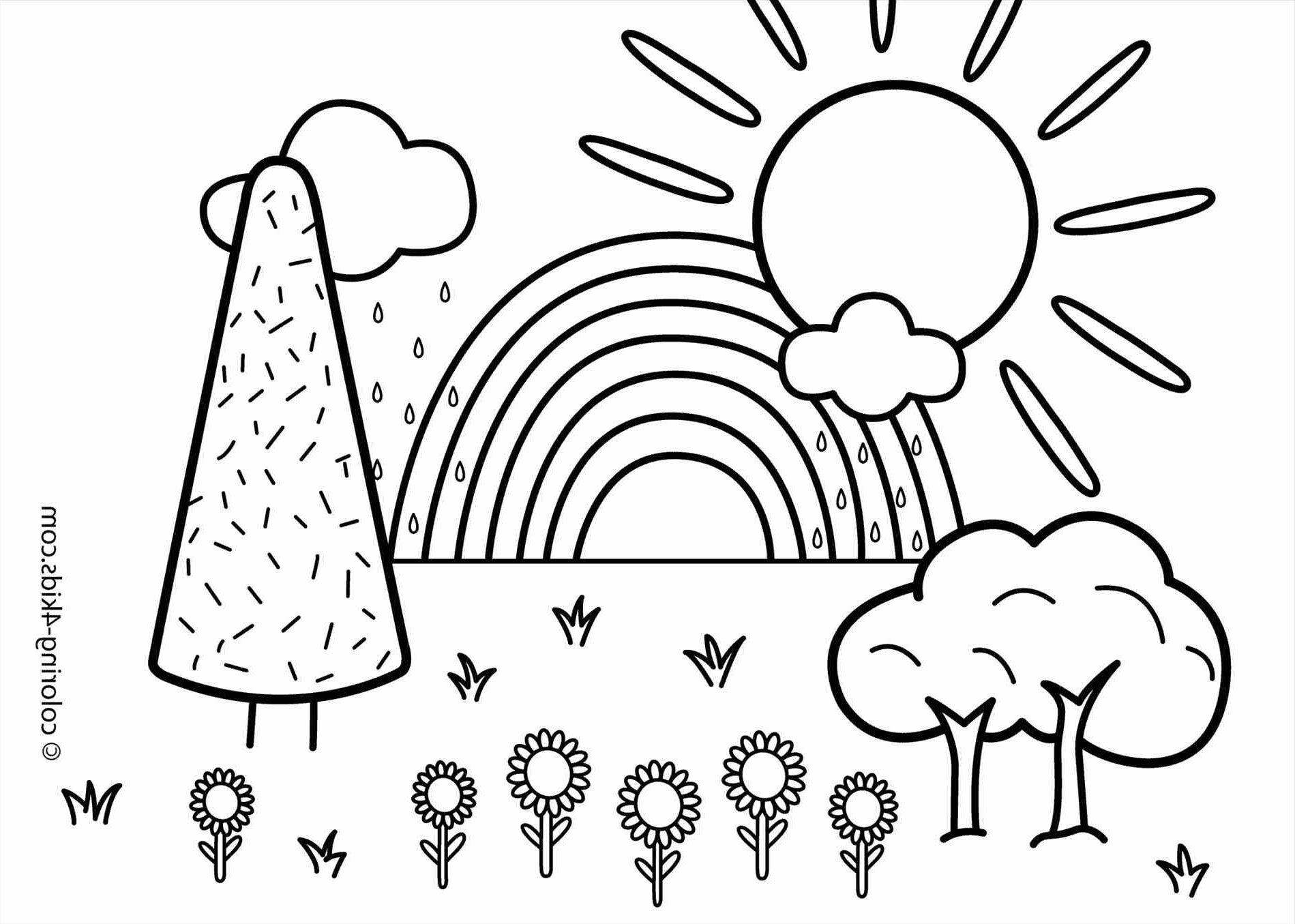 1899x1355 Simple Nature Drawing For Kids Draw Simple Natural Scenery Pencil